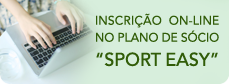 "Inscricao On-line no plano de socio ""SPORT EASY\"""